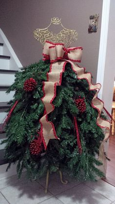 An Old Dress Form To Create Stunning Christmas Decor Christmas Tree Dress FormChristmas Tree Dress Form Mannequin Christmas Tree, Dress Form Christmas Tree, Unique Christmas Trees, Holiday Tree, Xmas Tree, All Things Christmas, Christmas Holidays, Holiday Decor, Christmas Branches