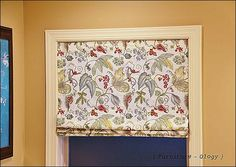 No Sew Roman Shade using a mini blind from @furniture - Ology