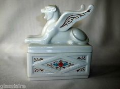 Porcelain gargoyle trinket box -- perfect jewelry holder!