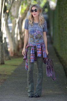 Nati Vozza Ideias Fashion, Hipster, Punk, Street Style, Inspiration, Grunge, Google, Checked Shirts, Women's