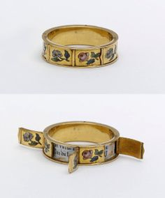 A hidden-message ring, from the 1830s.