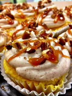 Carmel Apple cupcakes. Maybe making these for Roy's birthday!