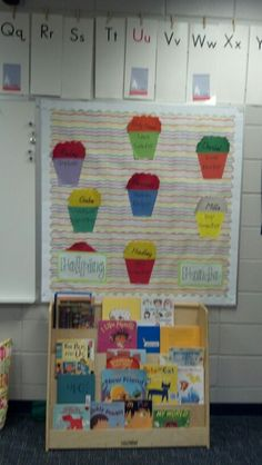 Helper board: buckets with job stay in place. Names on snack move around.