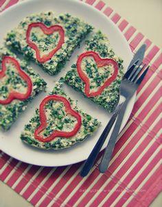 Moje Dietetyczne Fanaberie: Frittata z sercem