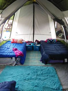 The other side of our tent! Camping Set Up, Camping Glamping, Diy Camping, Camping Survival, Camping Life, Camping Hacks, Outdoor Camping, Camping Ideas, Tent Set Up