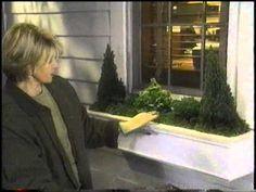 ▶ Christmas Window Boxes...Martha Stewart Living. - YouTube