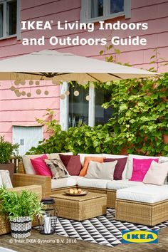 Click for ideas on upgrading your patio or deck this spring with the IKEA Living Indoors and Outdoors Guide.