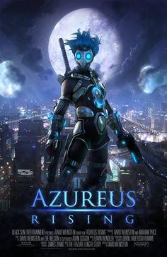 Azureus Rising - Proof of Concept :: Video Character Concept, Character Art, Concept Art, Sci Fi Comics, Anime Comics, Sci Fi Anime, Future Soldier, Tecno, Cyberpunk Art