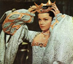 """England. 1533. Dress for Anne Boleyn in """"Anne of the Thousand Days"""" (1969). Costume designed by Margaret Furse."""