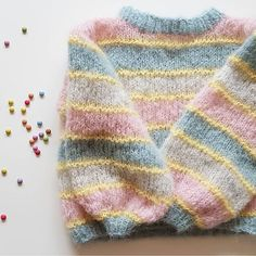 Free Knitting Pattern For Unicorn ` Knitting Unicorn Pattern Free Unicorn Knitting Pattern, Jumper Knitting Pattern, Knitting Patterns Free, Knit Patterns, Free Knitting, Baby Knitting, Free Pattern, Diy Clothes, Knitted Hats