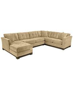 787e1eb88933 Elliot Fabric Microfiber 3-Piece Chaise Sectional Sofa