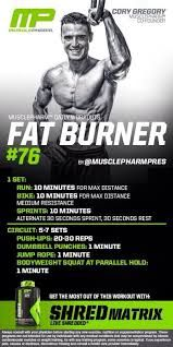 Image result for musclepharm fat burner workouts