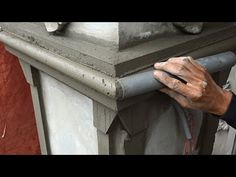 Hints And Tips Building Innovative Concrete Column You Must See - Building Column Step By Step Beton Design, Cement Design, Front Door Design Wood, House Front Design, Fence Design, Building Columns, Building Front, Boundry Wall, Wall Texture Design