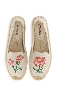 soludos floral embroidered espadrilles