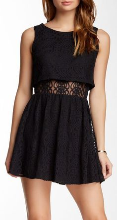 Want & Need   Sleeveless Lace Popover
