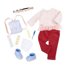 Our Generation Deluxe Outfit - Casual Our Generation Doll Accessories, Our Generation Doll Clothes, Poupées Our Generation, Girl Doll Clothes, Doll Clothes Patterns, Girl Dolls, Baby Dolls, Ropa American Girl, American Girl Doll Sets