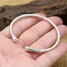 Online Shop Monkey King Bar Bangles classic simplicity real sterling silver Bracelet Bangle for men or women fine jewelry Silver Jewellery Indian, Silver Jewelry, Fine Jewelry, Silver Earrings, Silver Ring, Gold Jewellery, 925 Silver, Diamond Jewelry, Silver Bracelets For Women