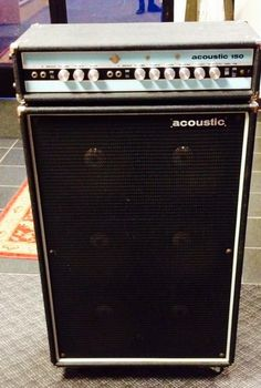 Acoustic 150 Guitar Amp Head and 610 Cabinet with Original Covers 1970 Black & Blue Valve Amplifier, Audio Amplifier, Custom Bass Guitar, Wall Of Sound, All About That Bass, Bass Amps, Guitar Accessories, Cool Gear, Guitar Pedals