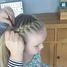 Braid Crown Tutorial, Hair Braiding Tutorial, Hair Tutorial Videos, Girl Hair Dos, Kid Hair, Hair Upstyles, Easy Hairstyles, Toddler Hairstyles, Hairstyles For Softball
