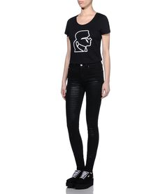 Are you looking for KARL LAGERFELD women's IKONIK KARL HEAD DENIM? Discover all the details on KARL.COM. Fast delivery and secure payment.
