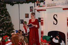 "Mrs. Claus reading ""Polar Express"""