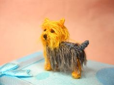 Miniature Yorkshire Terrier - Tiny Crochet Miniature Dog Stuffed Animals - Made To Order Miniature Yorkshire Terrier, Miniature Dogs, Stuffed Animals, Silky Terrier, Mini Dogs, Mini Things, Jack Russell Terrier, Little Dogs, Embroidery Thread