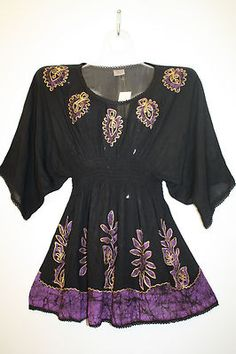 Embroidered Ethnic Wide Sleeves Tunic ~ Cute