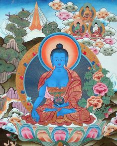 Meditate on this beautiful Medicine Buddha to relieve stress and protect yourself and your loved ones from sickness. Namaste.