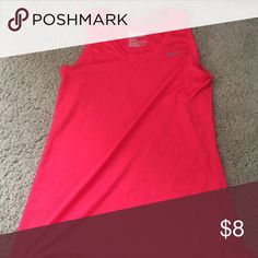 Red NIKE tank top Red athletic material Nike tank top. Size small Nike Tops Tank Tops