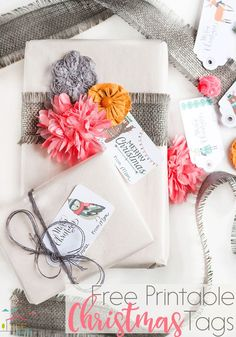 These free printable woodland Christmas gift tags are seriously the cutest gift tags ever!!
