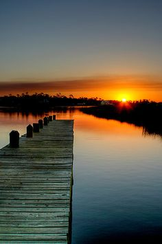The Empty Pier by Jonicool, Ocean Springs Mississippi
