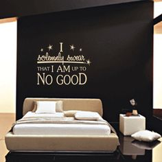 Wall Decal 60 COLOR CHOICES : I Am Up To No Good Harry Potter Vinyl Wall Art Inspirational Quote Sticker. $28.00, via Etsy.