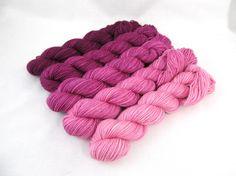 Gradient Kit Hand Dyed Merino Wool Pebble Sock  by BlackTrillium, $37.50