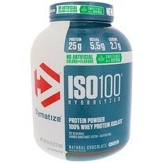 Dymatize Nutrition, ISO100 гидролизованный, 100% изолят сывороточного протеина, натуральный шоколадный вкус, 5 фунтов (2,3 кг) - iHerb.com