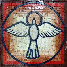The Holy Spirit Stone Art Mosaic Accent