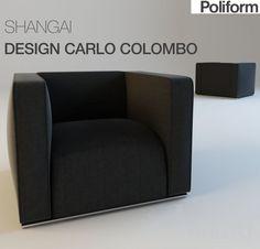 SHANGAI CARLO COLOMBO 3dsMax 2010 + fbx (Vray) : Кресла : Файлы : 3D модели, уроки, текстуры, 3d max, Vray