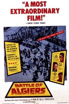 """A DAY in MOVIE HISTORY - Aug """"The Battle of Algiers"""", directed by Gillo Pontecorvo, starring Jean Martin, Saadi Yacef, premiered at the Vienna International Film Festival The Battle Of Algiers, Movie Posters For Sale, Film Posters, Best Picture Winners, War Film, International Film Festival, Vintage Movies, Great Movies, Film Movie"""
