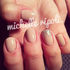 The best and almost subtle manicure for work!!!!!! :) sparkl ytip nude gel nails.