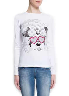 MANGO - CLOTHING - Tops - Disney long sleeved t-shirt