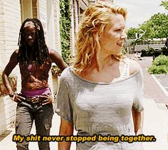 The Walking Dead  - Michonne and Andrea
