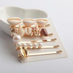 Pearl Seashell Hairpins