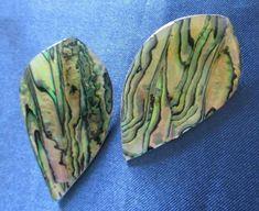 Vtg #Earrings Green Marble Swirled Pierced Large Plastic #RETRO #FASHION chunky #Vintage #Retro1980sstyle