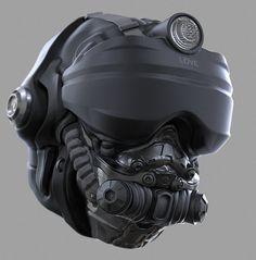 ArtStation - Helmet Concept #1, Ryan Love