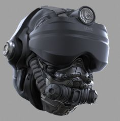 Helmet Concept #1, Ryan Love on ArtStation at https://www.artstation.com/artwork/RK5ny