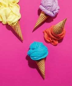 Tempt your customers' fashion taste buds by twirling summer scarves into gelato-like balls and placing them into ice-cream cones