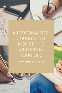 A Personalized Journal to Inspire the Writers in Your Life - Minivan Ministries