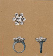 A diamond flower ring, designed by Lorenzo Homar for Cartier in the 1940's