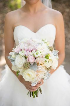 Natural + Pastel bouquet // Brookside Equestrian Center Wedding // Christine Chang Photography