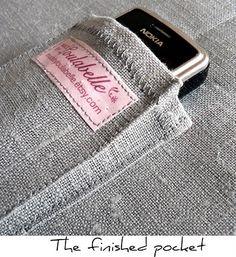 Cómo coser un bolsillo para el teléfono
