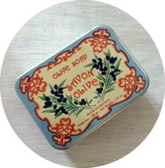 Metal Little Box - Savon Olive